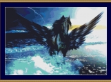 Black Pegasus Cross Stitch Pattern
