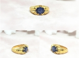 Blue Sapphire Vermeil 14K Gold Over Sterling Silver Ring