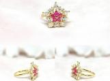 Bridal Jewelry, Bridal Rings, Wedding Jewelry, CZ & Brass Ring