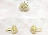Bridal Jewelry, Bridal Rings, Wedding Jewelry, CZ Studded Ring