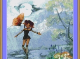 Butterfly And Pixie Cross Stitch Pattern
