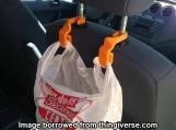 Car Seatback Trash Bag Hooks