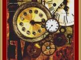 Clocks Cross Stitch Pattern