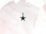 Diamond Enamelled & Oxidised Sterling Silver Star Pendant