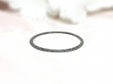Diamond Oxidised Sterling Silver Bracelet