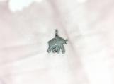 Diamond Oxidised Sterling Silver Elephant Pendant