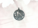 Diamond Oxidised Sterling Silver Pendant