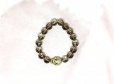 Diamond Sterling Silver Skull & Topaz Beads Bracelet