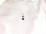 Emerald & Ruby Sterling Silver Pendant