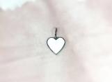 Enamelled & Oxidised Sterling Silver Heart Pendant