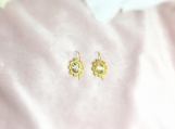 Green Amethyst Vermeil 14K Gold Over Sterling Silver Earring