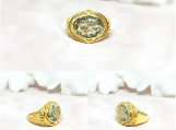 Green Amethyst Vermeil 14K Gold Over Sterling Silver Ring