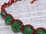 Green Beaded Macrame Christmas
