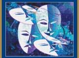Mask Art Cross Stitch Pattern