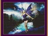 Purple Fairy Cross Stitch Pattern
