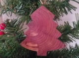 Rustic Heart of Cedar christmas ornaments