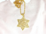 Star Charm Brass Necklace