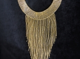 Beaded gold necklaces Mayan Style (Indigenous Jewelry)