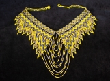 Beaded yellow black necklaces Mayan Style (Indigenous Jewelry)