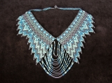 Beaded greysh black necklaces Mayan Style (Indigenous Jewelry)