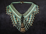 Mayan Style Beaded Turquoise necklace (Indigenous Jewelry)