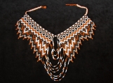 Beaded brown rusty,necklaces Mayan Style (Indigenous Jewelry)