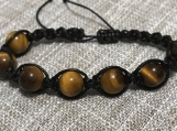 Tigers Eye Macrame Protection bracelet