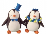 Unique wedding cake toppers Penguins bride and groom