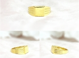 Vermeil 14K Gold Over Sterling Silver Signet Ring
