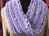Womens Mobius Scarf - Lilac