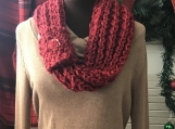 Womens Mobius Scarf - Redwood (Red)