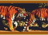A Pair Of Tigers Cross Stitch Pattern
