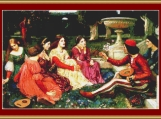 A Tale From The Decameron Cross Stitch Pattern