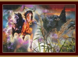 At Full Gallop Cross Stitch Pattern