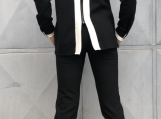 Black Cocktail Set / Paradox / Women Suit / Fitted Jacket / Shor