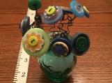 Button Flower Vase