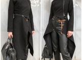 Cashmere Coat / Paradox / Street Fashion  / Buttoned Coat / Asym