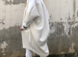 Cashmere White Coat / Paradox / Street Fashion / Buttoned Coat /