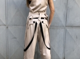 Elegant Women's Set / Paradox / Racer Back Vest / Wide-Leg Pants