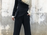 Extravagant Suit / Paradox / One Sleeve Blazer / Wide Leg Pants