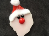Glass Santa Pin