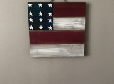 Hand-Painted Flag Wall Hanging