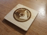 Laser Engraved Office of Naval Intelligence ONI Halo Coasters