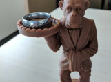Monkey Butler Ring Holder Stand