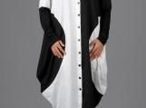 New Asymmetric Dress / Paradox / Loose Dress / Black & White Dre