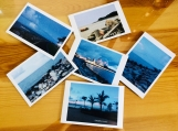 Six postcards Seaside scenery of  photoes print  gift CARDS