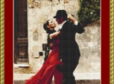 Tango Dancers Cross Stitch Pattern