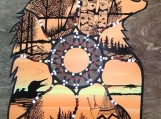 The Bear Spirit, Indigenous Painting, Acrylic & Ink/ Board Panel