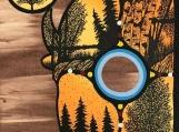 The Buffalo Spirit, Indigenous Painting, Acrylic on Board