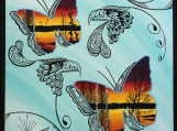 The Butterflies - The Story Tellers, Indigenous Painting, Acryli